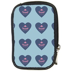 Cupcake Heart Teal Blue Compact Camera Cases