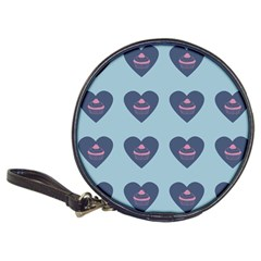 Cupcake Heart Teal Blue Classic 20 Cd Wallets