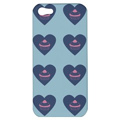 Cupcake Heart Teal Blue Apple Iphone 5 Hardshell Case