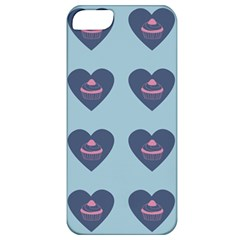 Cupcake Heart Teal Blue Apple Iphone 5 Classic Hardshell Case
