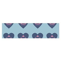 Cupcake Heart Teal Blue Satin Scarf (oblong)