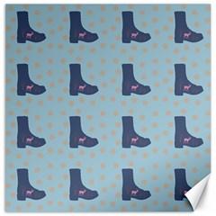 Deer Boots Teal Blue Canvas 20  X 20