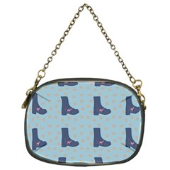 Deer Boots Teal Blue Chain Purses (two Sides)