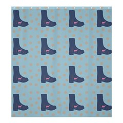 Deer Boots Teal Blue Shower Curtain 66  X 72  (large)