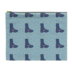 Deer Boots Teal Blue Cosmetic Bag (xl)