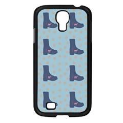 Deer Boots Teal Blue Samsung Galaxy S4 I9500/ I9505 Case (black)