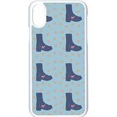 Deer Boots Teal Blue Apple Iphone X Seamless Case (white)
