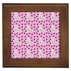 Deer Boots Pink Grey Framed Tiles