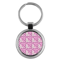 Deer Boots Pink Grey Key Chains (round)