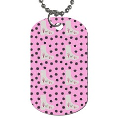Deer Boots Pink Grey Dog Tag (two Sides)
