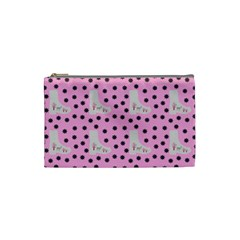 Deer Boots Pink Grey Cosmetic Bag (small)