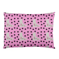 Deer Boots Pink Grey Pillow Case (two Sides)