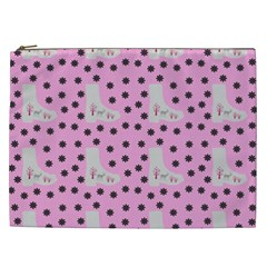 Deer Boots Pink Grey Cosmetic Bag (xxl)