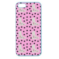 Deer Boots Pink Grey Apple Seamless Iphone 5 Case (color)