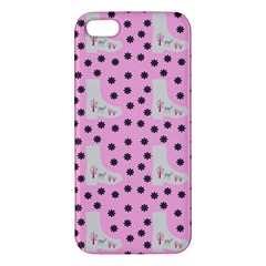 Deer Boots Pink Grey Apple Iphone 5 Premium Hardshell Case