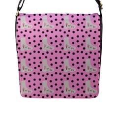 Deer Boots Pink Grey Flap Messenger Bag (l)