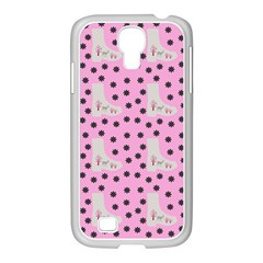 Deer Boots Pink Grey Samsung Galaxy S4 I9500/ I9505 Case (white)