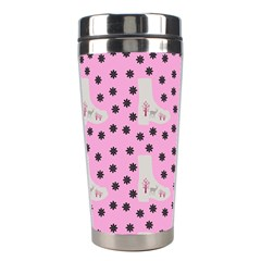 Deer Boots Pink Grey Stainless Steel Travel Tumblers