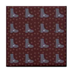 Deer Boots Brown Tile Coasters
