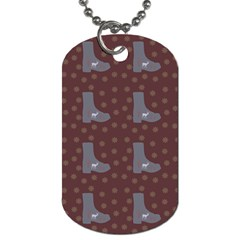 Deer Boots Brown Dog Tag (two Sides)