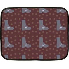 Deer Boots Brown Fleece Blanket (mini)