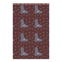 Deer Boots Brown Shower Curtain 48  X 72  (small)