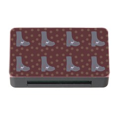 Deer Boots Brown Memory Card Reader With Cf