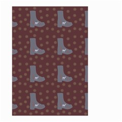 Deer Boots Brown Small Garden Flag (two Sides)