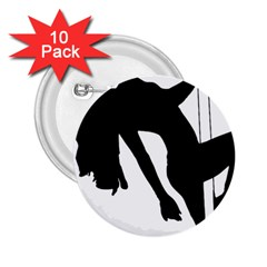 Pole Dancer Silhouette 2 25  Buttons (10 Pack)