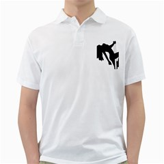 Pole Dancer Silhouette Golf Shirts