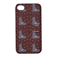 Deer Boots Brown Apple Iphone 4/4s Hardshell Case With Stand