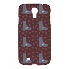Deer Boots Brown Samsung Galaxy S4 I9500/i9505 Hardshell Case