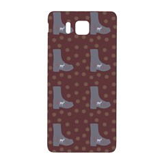 Deer Boots Brown Samsung Galaxy Alpha Hardshell Back Case