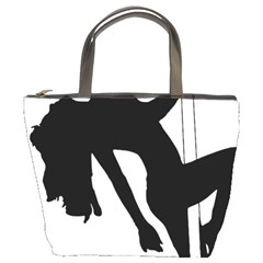 Pole Dancer Silhouette Bucket Bags