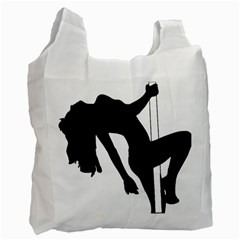 Pole Dancer Silhouette Recycle Bag (two Side)