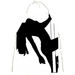 Pole Dancer Silhouette Full Print Aprons