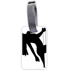 Pole Dancer Silhouette Luggage Tags (one Side)