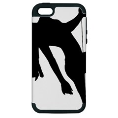 Pole Dancer Silhouette Apple Iphone 5 Hardshell Case (pc+silicone)