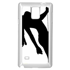 Pole Dancer Silhouette Samsung Galaxy Note 4 Case (white)