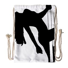 Pole Dancer Silhouette Drawstring Bag (large)