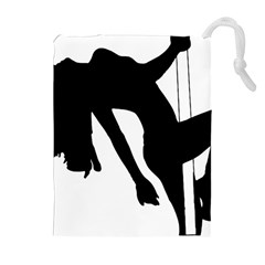 Pole Dancer Silhouette Drawstring Pouches (extra Large)