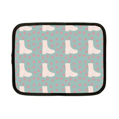 Deer Boots Blue White Netbook Case (small)