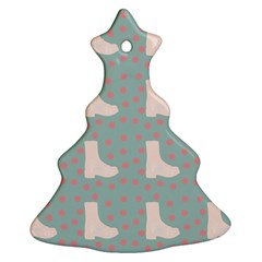Deer Boots Blue White Ornament (christmas Tree)