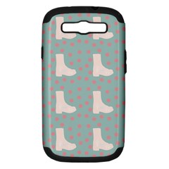 Deer Boots Blue White Samsung Galaxy S Iii Hardshell Case (pc+silicone)