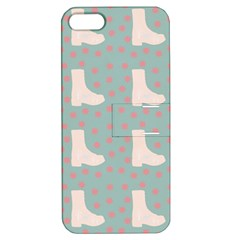 Deer Boots Blue White Apple Iphone 5 Hardshell Case With Stand
