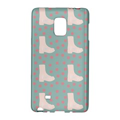 Deer Boots Blue White Galaxy Note Edge