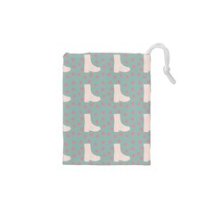Deer Boots Blue White Drawstring Pouches (xs)