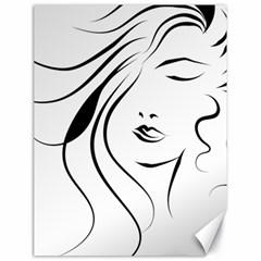 Womans Face Line Canvas 18  X 24