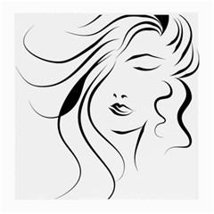 Womans Face Line Medium Glasses Cloth