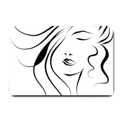 Womans Face Line Small Doormat